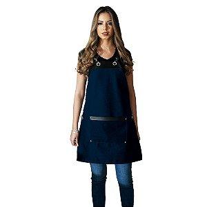 Avental em Sarja azul modelo Onza feminino