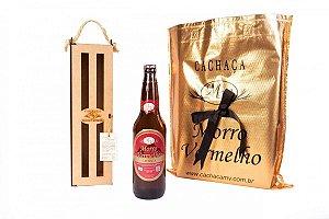 Cachaça Presente Madeira 600ml Ouro