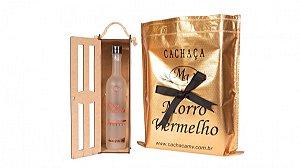 Cachaça Presente Madeira 500ml Jateada
