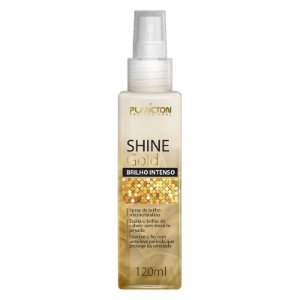 Shine Gold-Spray de Brilho Ouro Finalizador 120ml Plancton