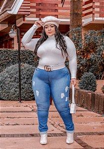Calça Jeans Potencial Plus Size Skinny Julyanne Azul