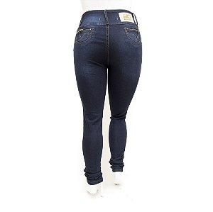 Calça Jeans Feminina Plus Size Cintura Alta Azul Credencial