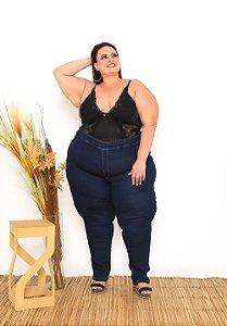 Calça Jeans Ane Plus Size Skinny Gisiane Azul