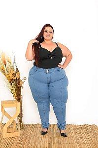 Calça Jeans Ane Plus Size Skinny Dayane Azul