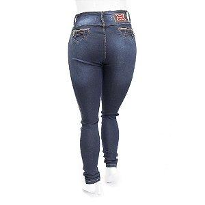 Calça Jeans Plus Size Feminina Credencial com Lavagem Escura