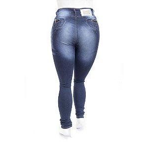 Calça Jeans Plus Size Feminina Azul Escura Credencial