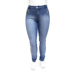 Calça Plus Size Jeans Feminina Hot Pants Cheris