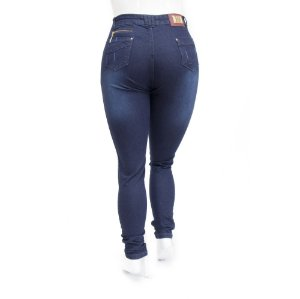 Calça Jeans Feminina Plus Size Azul Hot Pants Cheris