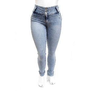 Calça Jeans Plus Size Feminina Manchada Thomix