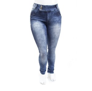 Calça Jeans Plus Size Feminina Manchada MC2
