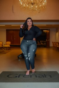 Calça Jeans Credencial Plus Size Skinny Jasmira Azul