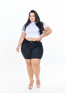 Shorts Jeans Potencial Plus Size Cariane Preta