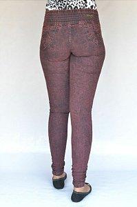 Calça Jeans Legging Meitrix Marmorizada Levanta Bumbum
