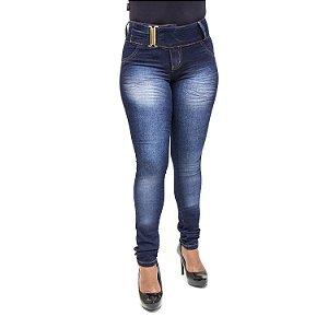 Calça Jeans Azul Escura Feminina Helix Levanta Bumbum