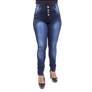 Calça Jeans Feminina Corpete Thomix Cintura Alta