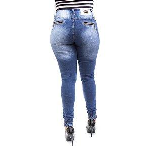 Calça Jeans Feminina Azul Escura Cheris com Elástano