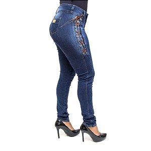 Calça Ri19 Jeans Feminina Escura Levanta Bumbum com Lycra