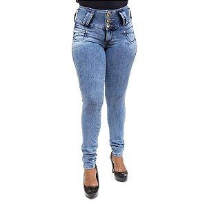 Calça Ri19 Jeans Feminina Azul Levanta Bumbum com Lycra