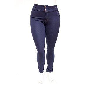 Calça Jeans Plus Size Feminina Escura Helix Cintura Alta