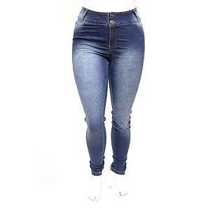 Calça Jeans Plus Size Feminina Credencial Azul com Elastano