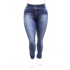 Calça Jeans Plus Size Feminina Credencial Azul com Lycra