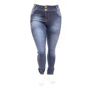 Calça Jeans Plus Size Feminina Credencial Lavagem Azul com Elastano