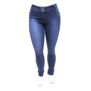 Calça Jeans Feminina Plus Size Azul Credencial com Lycra