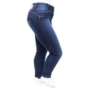 Calça Jeans Plus Size Feminina Azul Escura Credencial com Lycra