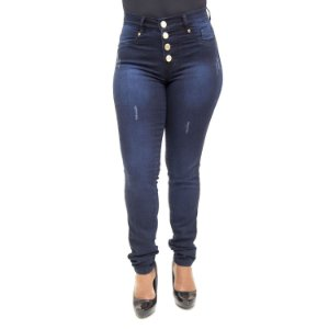 Calça Jeans Feminina Hot Pants Escura Helix com Lycra
