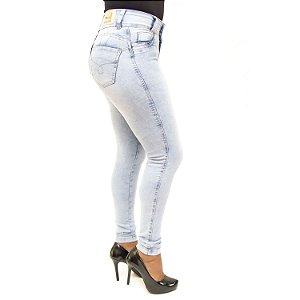 Calça Jeans Feminina Clara com Cheris com Lycra