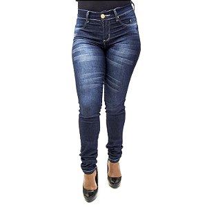 Calça Jeans Feminina Cintura Alta Hot Pants Azul Helix com Lycra