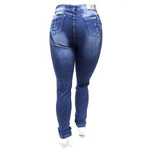 Calça Jeans Plus Size Hot Pants Cintura Alta com Lycra