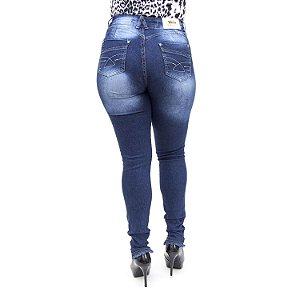 Calça Jeans Feminina Rasgadinha Cintura Alta Hot Pants Cheris