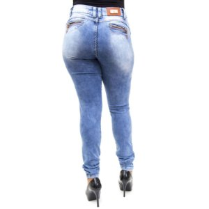 Calça Jeans Feminina Manchada Hot Patns Thomix