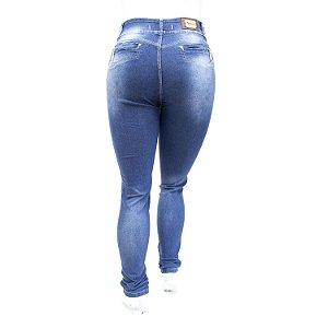 Calça Jeans Feminina Plus Size Básica Azul Cheris