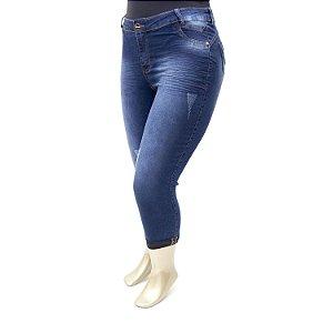 Calça Plus Size Jeans Cropped Credencial Cintura Alta