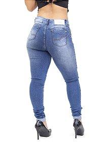 Calça Jeans Deerf Skinny Rasgada Wiara Azul
