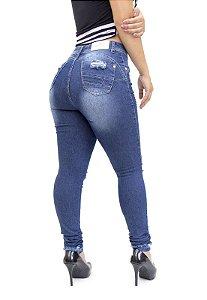 Calça Jeans Thomix Skinny Rasgada Josaine Azul