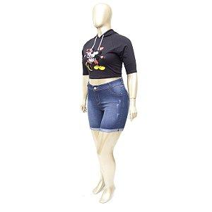 Bermuda Jeans Plus Size Azul Credencial