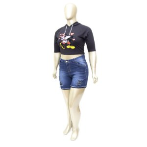 Shorts Jeans Plus Size Rasgadinho Thomix