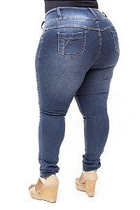 Calça Jeans Credencial Plus Size Skinny Luiza Azul