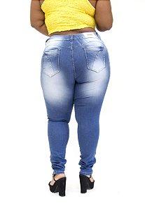 Calça Jeans Deerf Plus Size Skinny Debora Azul