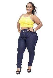 Calça Jeans Plus Size Feminina Escura Wesen Lucimeire