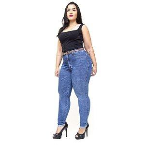 Calça Jeans Cambos Plus Size Skinny Gabriella Azul