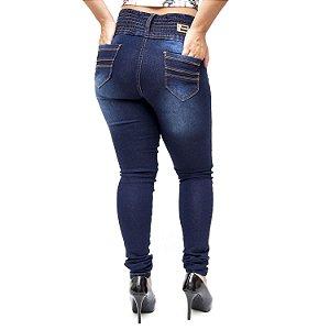 Calça Jeans Credencial Skinny com Elástico Melisa Azul