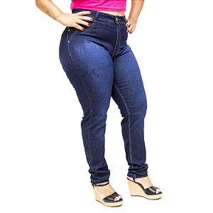 Calça Jeans Cheris Plus Size Reta Marylene Azul