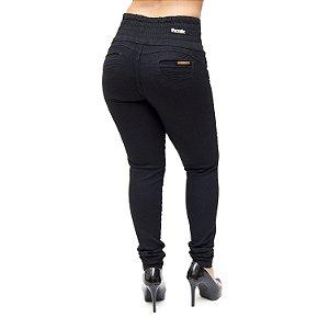 Calça Jeans Thomix Skinny com Elástico Winnie Preta