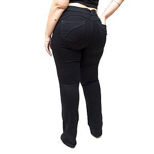 Calça Jeans MC2 Plus Size Flare Licia Preta