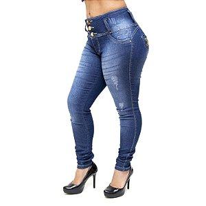 Calça Jeans Hevox Skinny Jacinta Azul