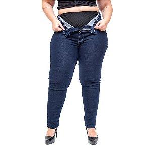 Calça Jeans Cheris Plus Size com Cinta Skinny Aryexa Azul